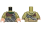Part No: 973pb2552c01  Name: Torso SW Hoodie Jacket with Dark Bluish Gray Pocket Device Pattern (Rebel Trooper) / Olive Green Arms / Light Nougat Hands
