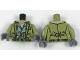 Part No: 973pb2724c01  Name: Torso Jacket over Sand Green Vest with Belt Pattern (Steve Trevor) / Olive Green Arms / Dark Bluish Gray Hands
