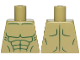 Part No: 973pb3279  Name: Torso Bare Chest with Dark Green Muscles Outline Pattern (Hulk)