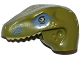 Part No: 98065pb06  Name: Dino Head Raptor with Pin Hole, Tan Teeth and Tan and Sand Blue Marks Pattern