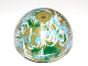 Part No: 98107pb03  Name: Cylinder Hemisphere 11 x 11, Studs on Top with Endor Blue / Green / Olive / White Planet Pattern (9679)