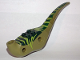 Part No: 98165c01pb02  Name: Dino Body Raptor with Dark Green Top with Lime Stripes Pattern