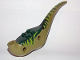 Part No: 98165c01pb04  Name: Dino Body Raptor with Dark Green Top with Lime Stripes on Sides Pattern