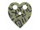 Part No: bb0798pb01  Name: Minifigure, Cape Cloth, Heart Shaped with Black Markings Pattern