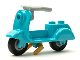 Part No: 15396c08  Name: Riding Cycle Scooter with Pearl Gold Stand, Light Bluish Gray Angular Handlebars and Light Bluish Gray Wheels