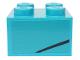 Part No: 3003pb127R  Name: Brick 2 x 2 with Black Line on Medium Azure Background Pattern Model Right Side (Sticker) - Set 76898