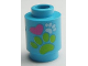Part No: 3062bpb039  Name: Brick, Round 1 x 1 Open Stud with Paw Prints and Heart Pattern