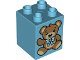 Part No: 31110pb137  Name: Duplo, Brick 2 x 2 x 2 with Teddy Bear and Teddy Bear with Bandages on Reverse Pattern