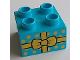 Part No: 3437pb077  Name: Duplo, Brick 2 x 2 with Present / Gift with Yellow Bow and Polka Dots Pattern