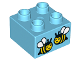 Part No: 3437pb085  Name: Duplo, Brick 2 x 2 with Two Bees Pattern (10819)