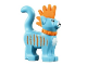 Part No: 39742pb02  Name: Cat, Standing with Orange Spiky Mohawk, Collar and Stripes Pattern