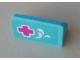 Part No: 4865pb087  Name: Panel 1 x 2 x 1 with Dark Pink Cross and White Splashes Pattern (Sticker) - Set 41313