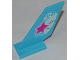 Part No: 6239pb039  Name: Tail Shuttle with Magenta Star on Butterfly Wing Pattern on Both Sides (Stickers) - Set 3063