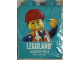 Part No: 76371pb124  Name: Duplo, Brick 1 x 2 x 2 with Bottom Tube with Legoland Discovery Center Emmet Pattern