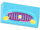 Part No: 88930pb047  Name: Slope, Curved 2 x 4 x 2/3 with Bottom Tubes with Magenta Car Grille, Yellow Lights and Star Pattern (Sticker) - Set 41034