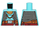 Part No: 973pb2190  Name: Torso SW Maz Kanata with Medium Azure Undershirt and Dark Gray Quilted Vest Pattern