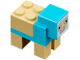Part No: minesheep02  Name: Minecraft Sheep, Dyed Medium Azure