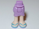 Part No: 11244c00pb03  Name: Mini Doll Friends Hips and Wrap Skirt, Light Nougat Legs and Medium Azure Sandals Pattern
