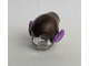 Part No: 18984pb05  Name: Minifigure, Headgear Hat, Elf Drooping with Pointed Ears with Dark Brown Top Pattern (Gleck)