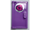 Part No: 60614pb006  Name: Door 1 x 2 x 3 with Vertical Handle, Mold for Tabless Frames with Flower Pattern (Sticker) - Set 40307