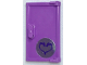 Part No: 60614pb007  Name: Door 1 x 2 x 3 with Vertical Handle, Mold for Tabless Frames with Heart Pattern (Sticker) - Set 40307
