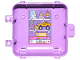 Part No: 64454pb03  Name: Container Box 3 x 8 x 6 2/3 Half Back with Toys, Teddy Bear, Rocket, Robot, Car and Dollhouse Pattern (Sticker) - Set 41409