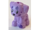 Part No: 69901pb03  Name: Dog, Friends, Puppy, Standing, Small with Dark Purple Paw and Spots Pattern