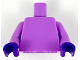 Part No: 973c84  Name: Torso Plain / Medium Lavender Arms / Dark Purple Hands
