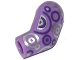 Part No: 981pb040  Name: Arm, Left with Dark Purple and Silver Circles Pattern
