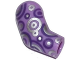 Part No: 982pb040  Name: Arm, Right with Dark Purple and Silver Circles Pattern