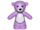 Part No: 98382pb007  Name: Teddy Bear with Black Eyes, Nose and Mouth and White Stomach and Muzzle Pattern
