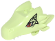 Part No: 24196pb05  Name: Dragon Head (Elves) Upper Jaw with Red Eyes and Black Pattern (Ashwing)