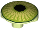 Part No: 2654pb011  Name: Plate, Round 2 x 2 with Rounded Bottom and Lime and Black Eye Pattern