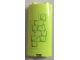 Part No: 30987pb001  Name: Cylinder Quarter 2 x 2 x 5 with 1 x 1 Cutout with Yellowish Green Brick Pattern (Sticker) - Set 41188