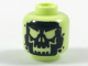 Part No: 3626cpb1990  Name: Minifigure, Head Alien with Black Skull Pattern - Hollow Stud