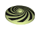 Part No: 3960pb055  Name: Dish 4 x 4 Inverted (Radar) with Solid Stud with Spiral Segments Black Pattern