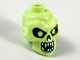 Part No: 43693pb05  Name: Minifigure, Head, Modified Skull with Black Eyes, Nose, Mouth, White Pupils, Teeth and Sand Green Around Mouth Pattern