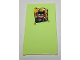 Part No: 57895pb076  Name: Glass for Window 1 x 4 x 6 with Batman Poster with Joker Smile Pattern (Sticker) - Set 70912