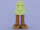 Part No: 92252c00pb039  Name: Mini Doll, Legs with Hips and Skirt, Medium Nougat Legs and Gold Shoes Pattern