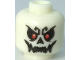 Part No: 3626cpb2835  Name: Minifigure, Head Skull with Red Eyes and Open Mouth Grin Pattern - Hollow Stud