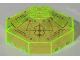 Part No: 2418bpb02  Name: Windscreen 6 x 6 Octagonal Canopy with Axle Hole and Insectoids Pattern - Set 6977