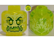 Part No: 28621pb0004  Name: Minifigure, Head Alien Ghost with Yellowish Green Face, Cheeks, Large Raised Eyebrows, Pointed Eyes and Flames in Back Pattern - Vented Stud