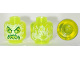 Part No: 28621pb0016  Name: Minifigure, Head Alien Ghost with Yellowish Green Face, Slime Mouth, Raised Eyebrows and Flames in Back Pattern - Vented Stud
