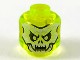 Part No: 28621pb0022  Name: Minifigure, Head Alien Ghost with White and Yellowish Green Skull Face and Fangs Pattern - Vented Stud