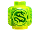 Part No: 3626cpb1660  Name: Minifigure, Head (Without Face) Dragon Pattern - Hollow Stud