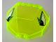 Part No: 6084pb01  Name: Windscreen 8 x 3 1/2 x 4 1/6 Half Octagon Aquanaut Sub Top with Aquaraiders Eyes Pattern (Stickers)