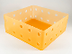 Part No: clikits227  Name: Clikits Container Utensil Holder, 15 x 15 x 5, 10 Holes Each Side