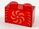 Part No: 3065pb18  Name: Brick 1 x 2 without Bottom Tube with Gold Pinwheel Pattern