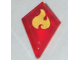 Part No: 35649pb02  Name: Tile, Modified 1 x 2 Diamond with Elemental Fire Pattern