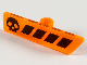 Part No: 65191pb02  Name: Minifigure, Utensil Gameplayer Label with Black Skull and Stripes Pattern